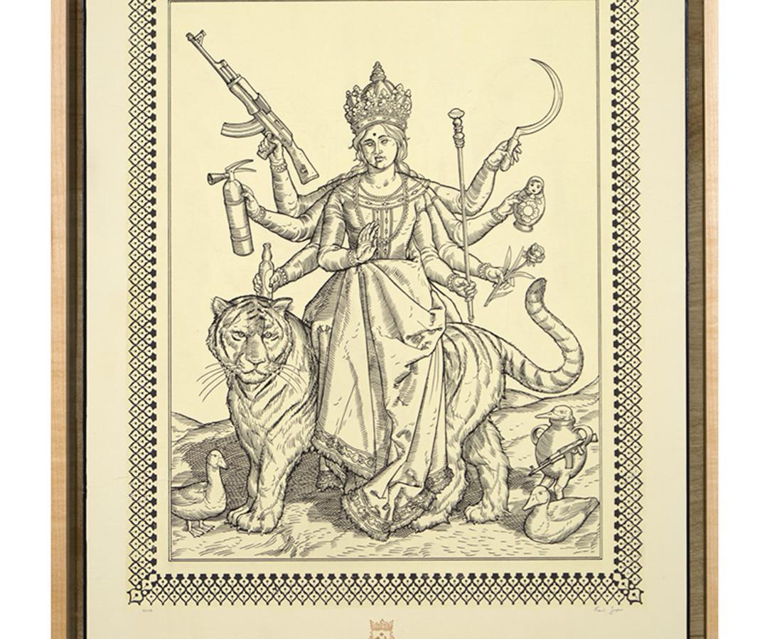 <span class=&#34;artist&#34;><strong>Ravi Zupa</strong></span>, <span class=&#34;title&#34;><em>German Renaissance Durga</em>, 2018</span>
