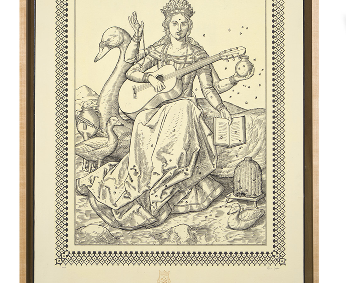 <span class=&#34;artist&#34;><strong>Ravi Zupa</strong></span>, <span class=&#34;title&#34;><em>German Renaissance Saraswati Devi</em>, 2018</span>