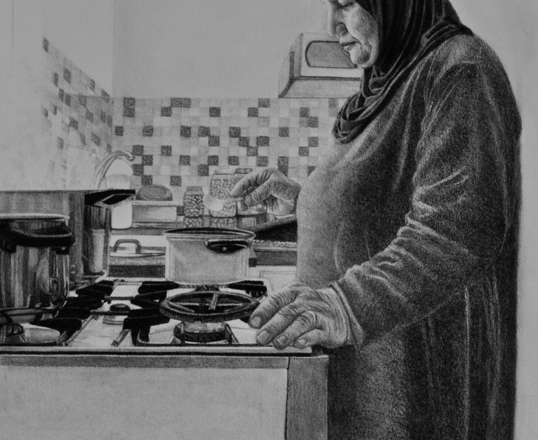 <span class=&#34;artist&#34;><strong>Samah Shihadi</strong></span>, <span class=&#34;title&#34;><em>Cooking Series </em>, 2018</span>