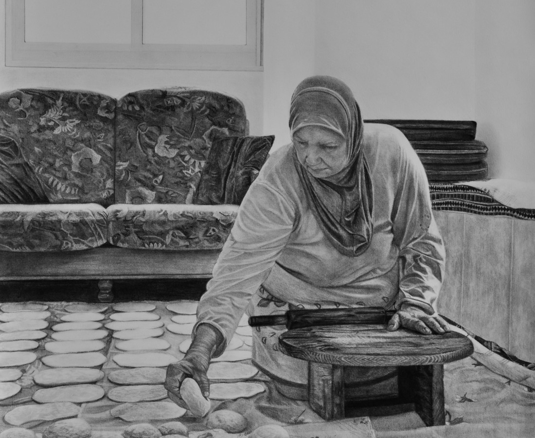 <span class=&#34;artist&#34;><strong>Samah Shihadi</strong></span>, <span class=&#34;title&#34;><em>Dough </em>, 2018 </span>