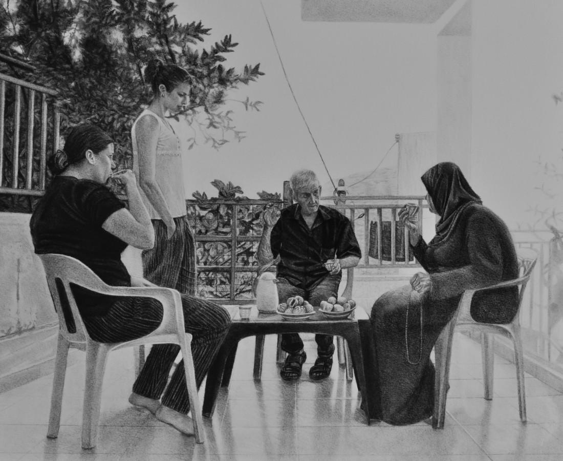 <span class=&#34;artist&#34;><strong>Samah Shihadi</strong></span>, <span class=&#34;title&#34;><em>Conversation </em>, 2018</span>