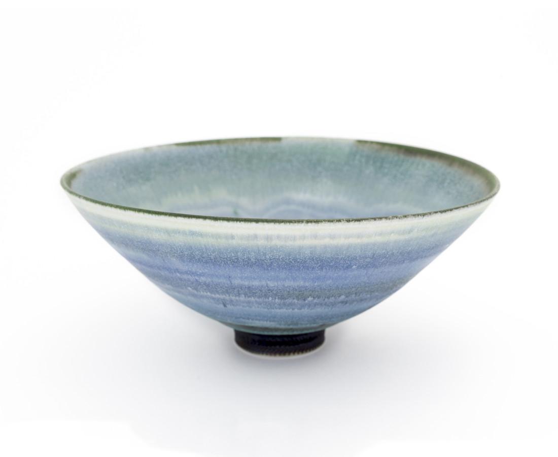 Hugh West, Open Blue/Green Glazed Bowl