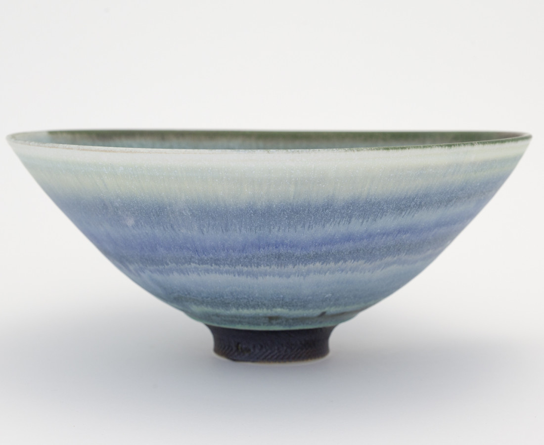 Hugh West, Open Blue/Green Glazed Bowl