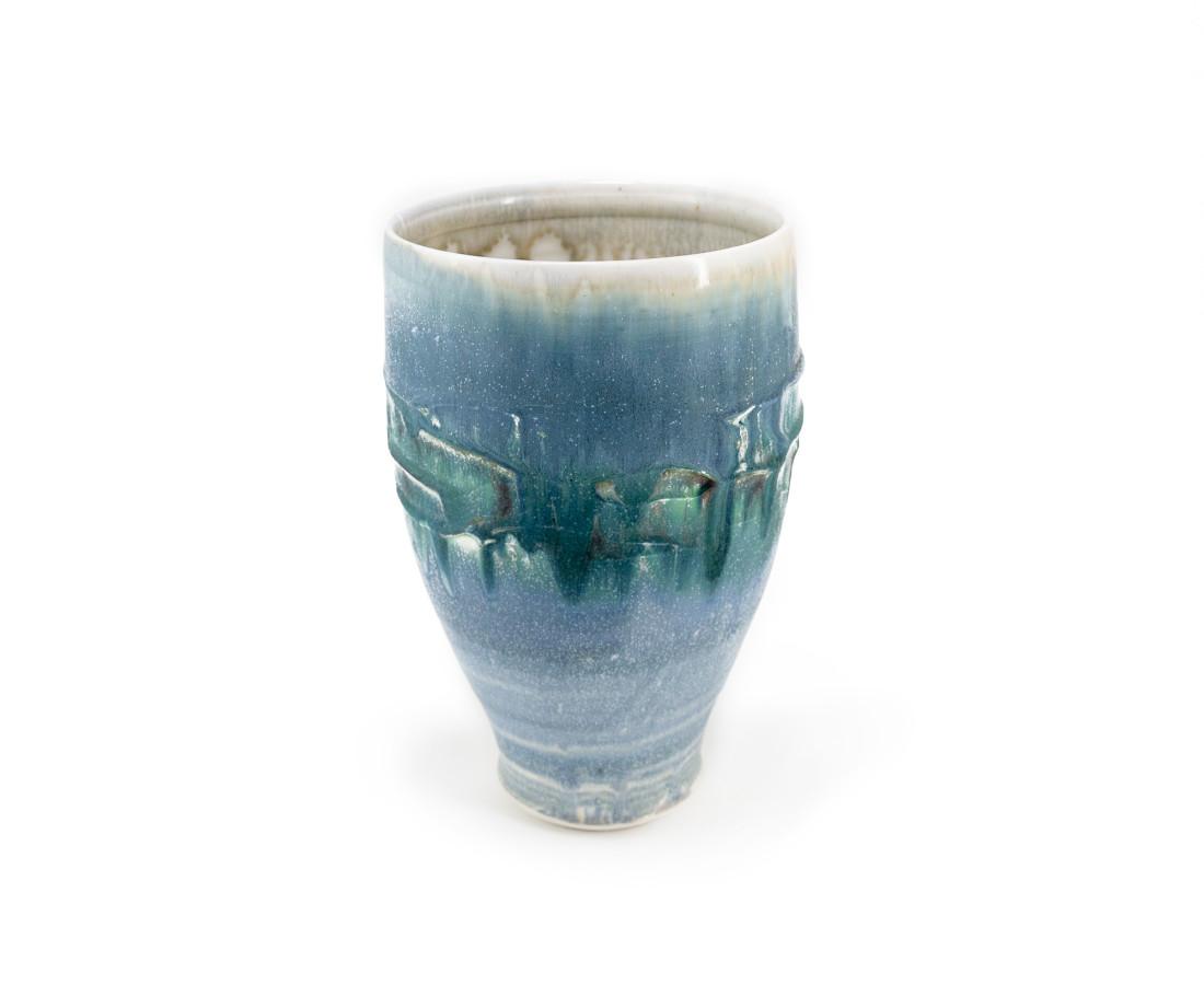 Hugh West, Tall Open Vase Swirled