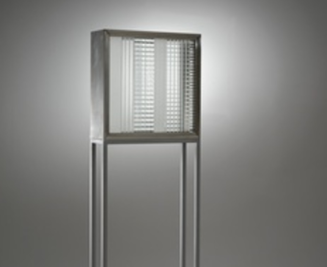 Nanda Vigo: Base, 1966, 60 x 20 x 110 cm - 23 9/16 x 7 13/16 x 43 4/16 ins, alluminio