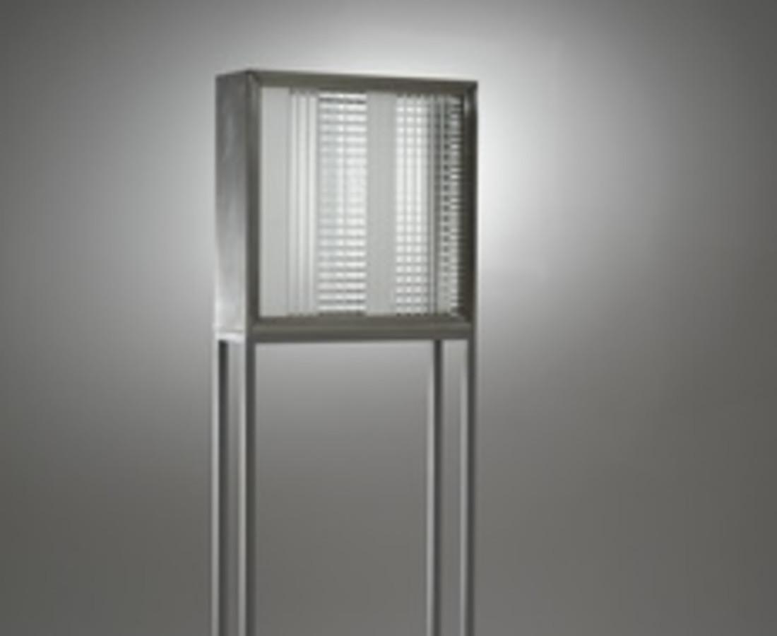 Nanda Vigo: Base, 1966, 40 x 20 x 215 cm - 15 11/16 x 7 13/16 x 84 10/16 ins, alluminio