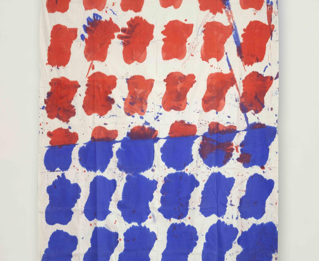 Erbern - Pinelli - Viallat: Claude Viallat, 016, 1975, 280 x 210 cm - 110 1/4 x 82 5/8 in, tecnica mista