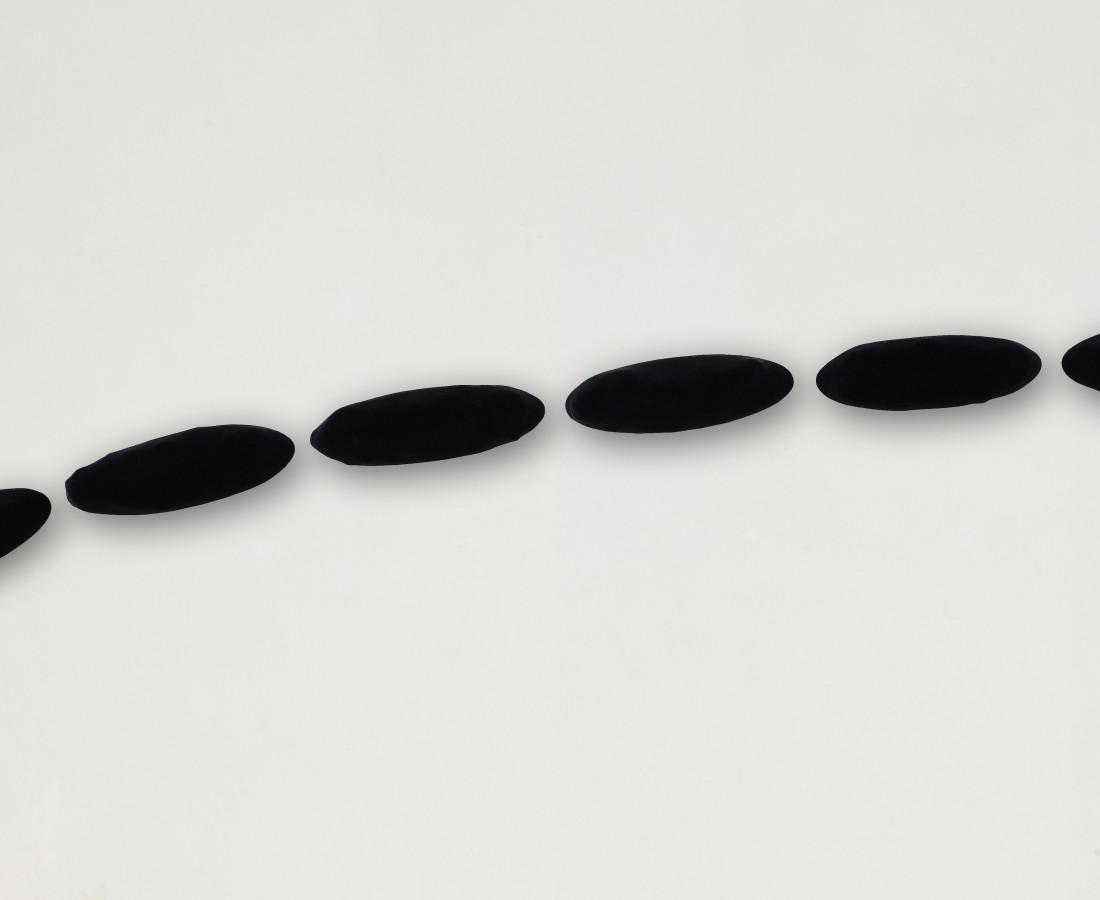 Erbern - Pinelli - Viallat: Pino Pinelli, Pittura 86, 1986, 12 x 37 cm - 4 3/4 x 14 5/8 in, tecnica mista