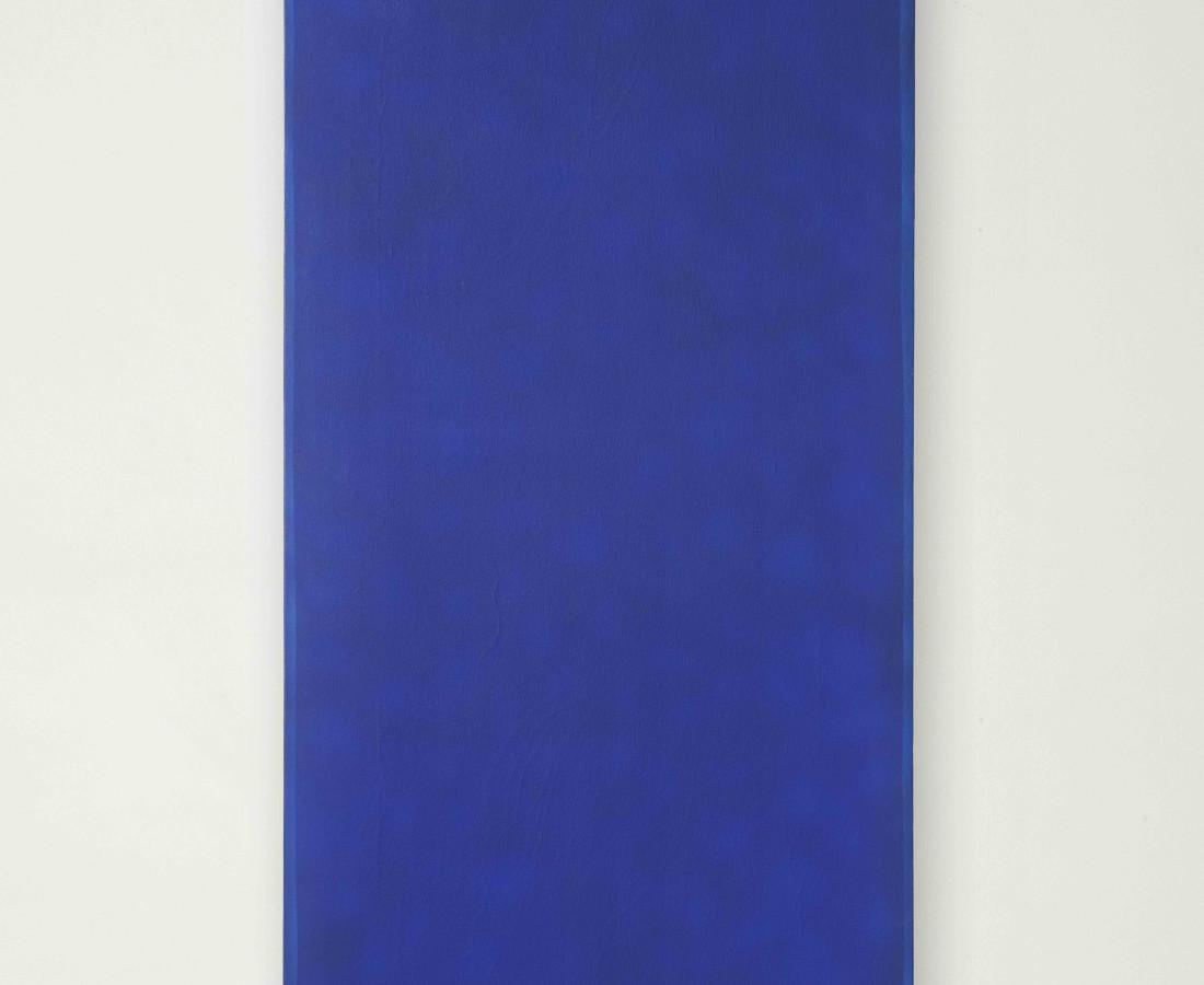 Erbern - Pinelli - Viallat: Pino Pinelli, Pittura BL, 1974/1975, 112 x 52 cm - 44 1/8 x 20 1/2 in, acrilico su tela