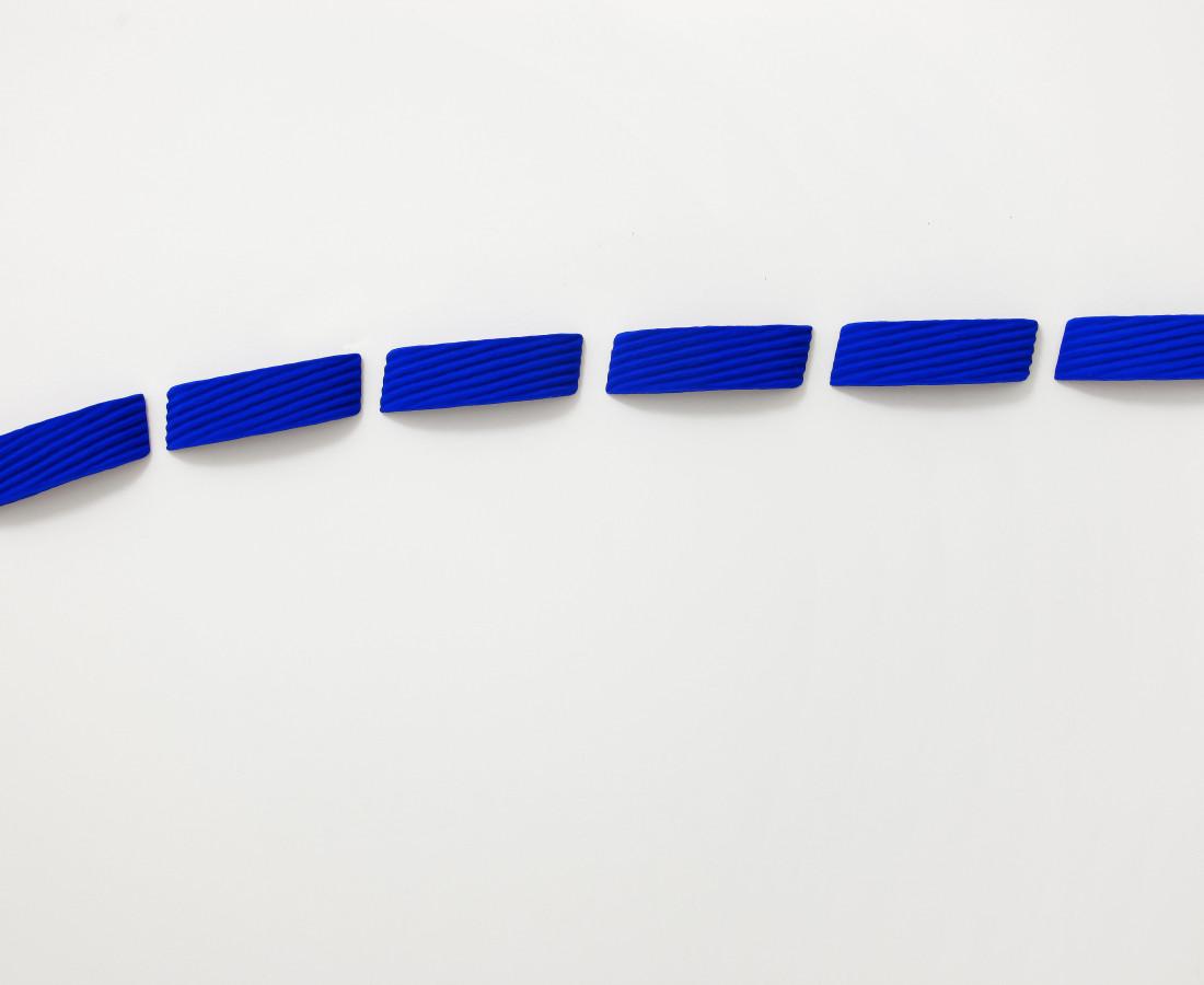 Erbern - Pinelli - Viallat: Pino Pinelli, Pittura BL 6 elementi, 2007, 9 x 32 cm - 3 1/2 x 12 5/8 in,tecnica mista