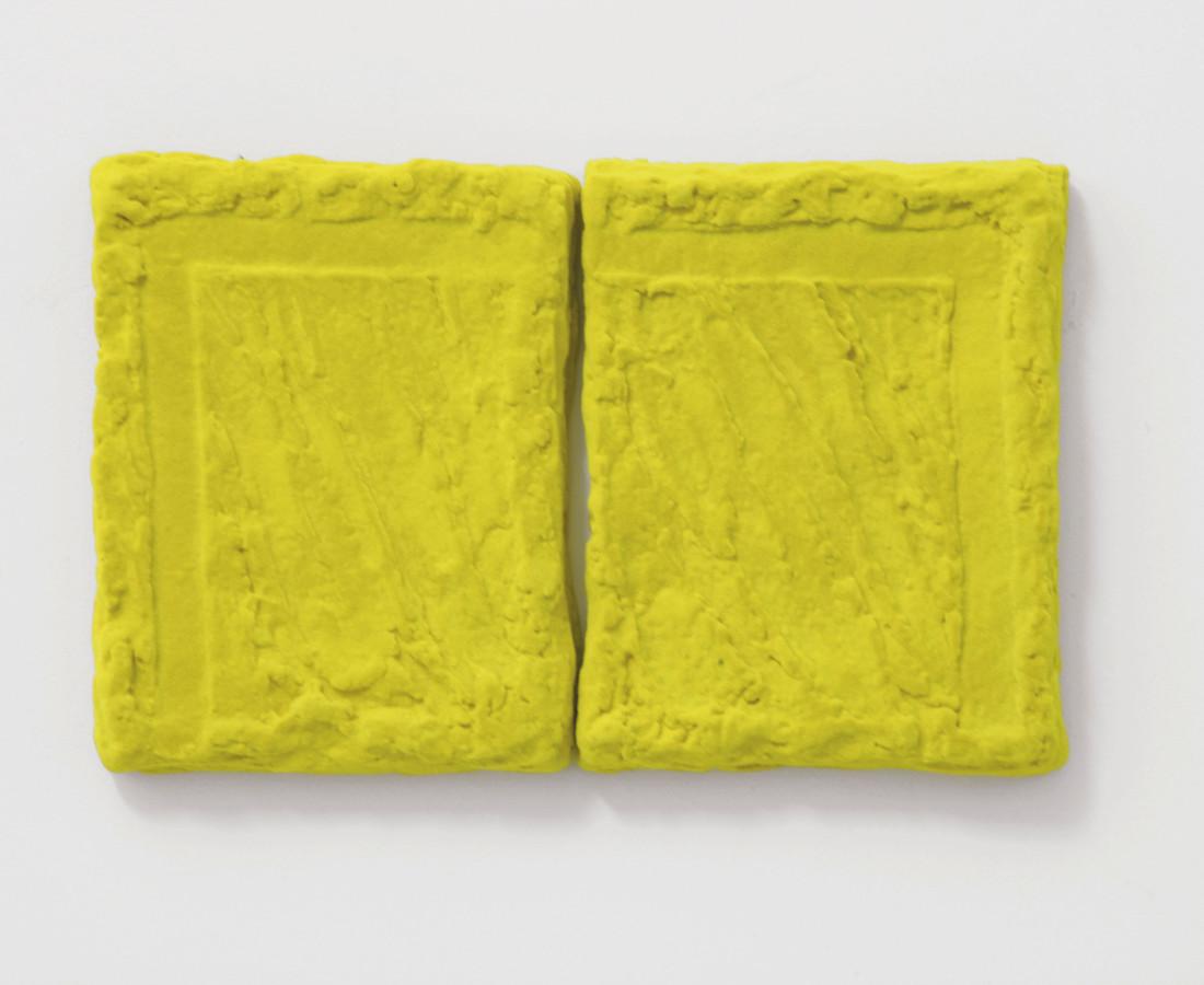 Erbern - Pinelli - Viallat: Pino Pinelli, Pittura G 2 elementi, 2007, 30 x 48 cm ogni elemento - 11 3/4 x 18 7/8 in, tecnica mista