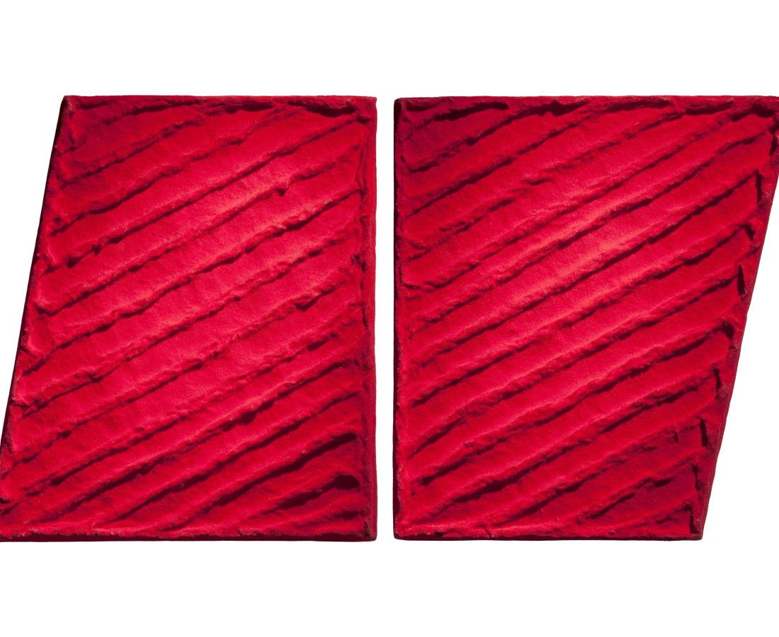 Erbern - Pinelli - Viallat: Pino Pinelli, Pittura R, 1998, 31 x 52 cm - 12 3/16 x 20 7/16 ins, tecnica mista / scultura