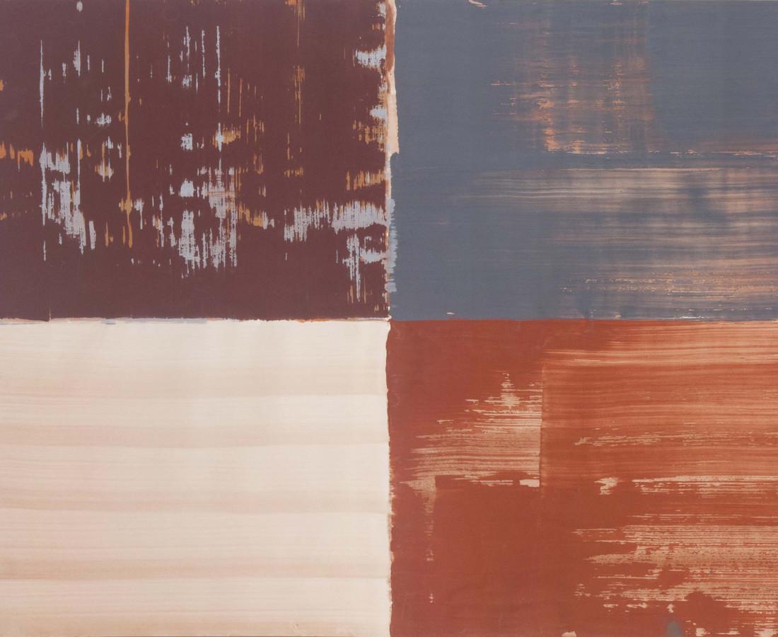 Erbern - Pinelli - Viallat: Ulrich Erbern, Le mura, 1998, 70 x 90 cm - 27 1/2 x 35 3/8 in, acrilico su carta