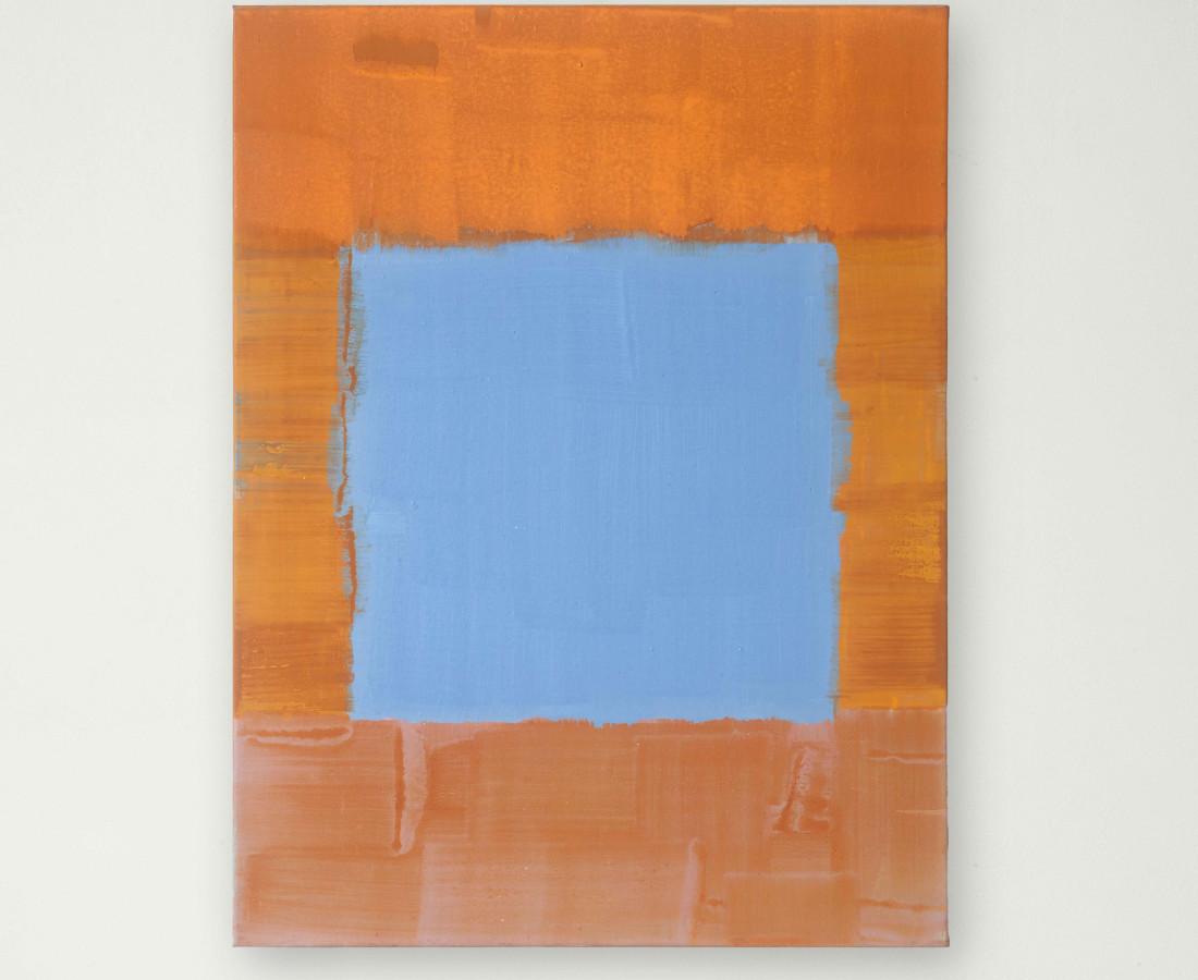 Erbern - Pinelli - Viallat: Ulrich Erben, Senza titolo, 2002, 80 x 60 cm - 31 1/2 x 23 5/8 in, acrilico su tela