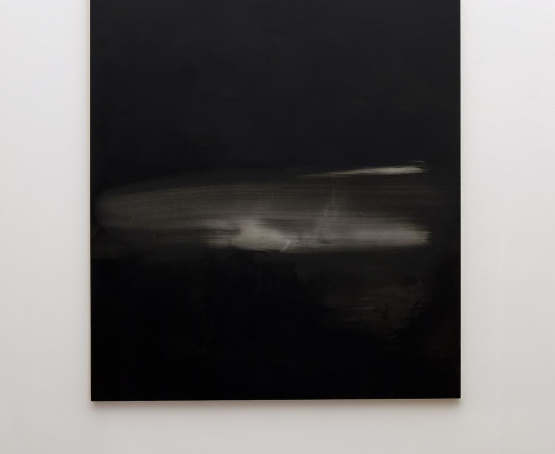 Mauro Vignando: Black painting, 2015, 190 x 150 cm, acrilico su supporto in legno,