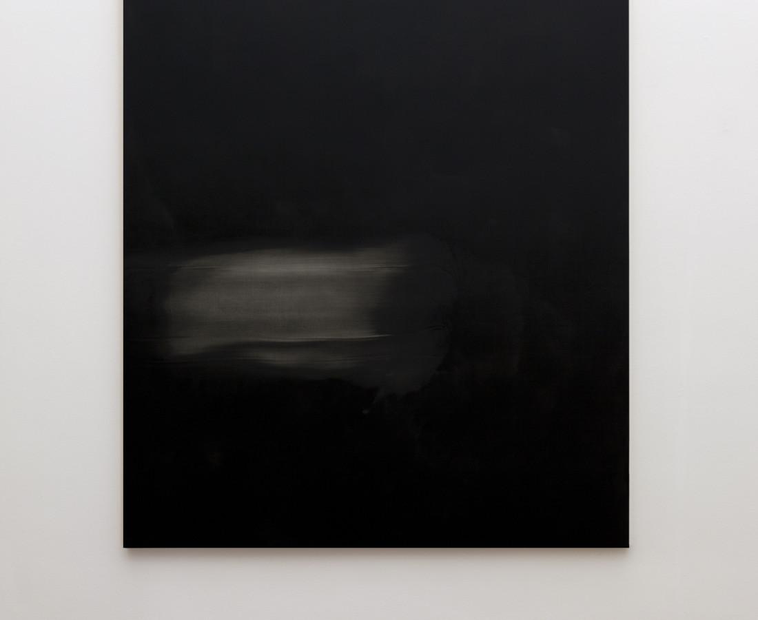 Mauro Vignando: Black painting, 2015, 190 x 150 cm, acrilico su supporto in legno