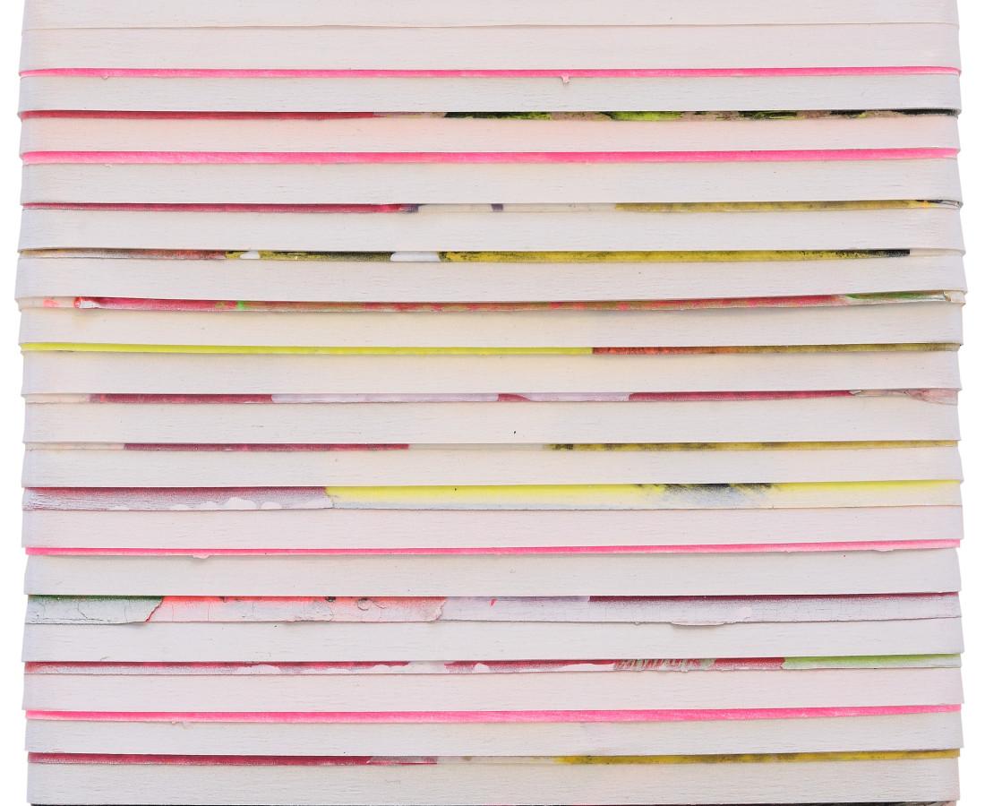 Paolo Bini: Monochrome, 2015, 24 x 24 cm, acrilico su nastro carta su tela
