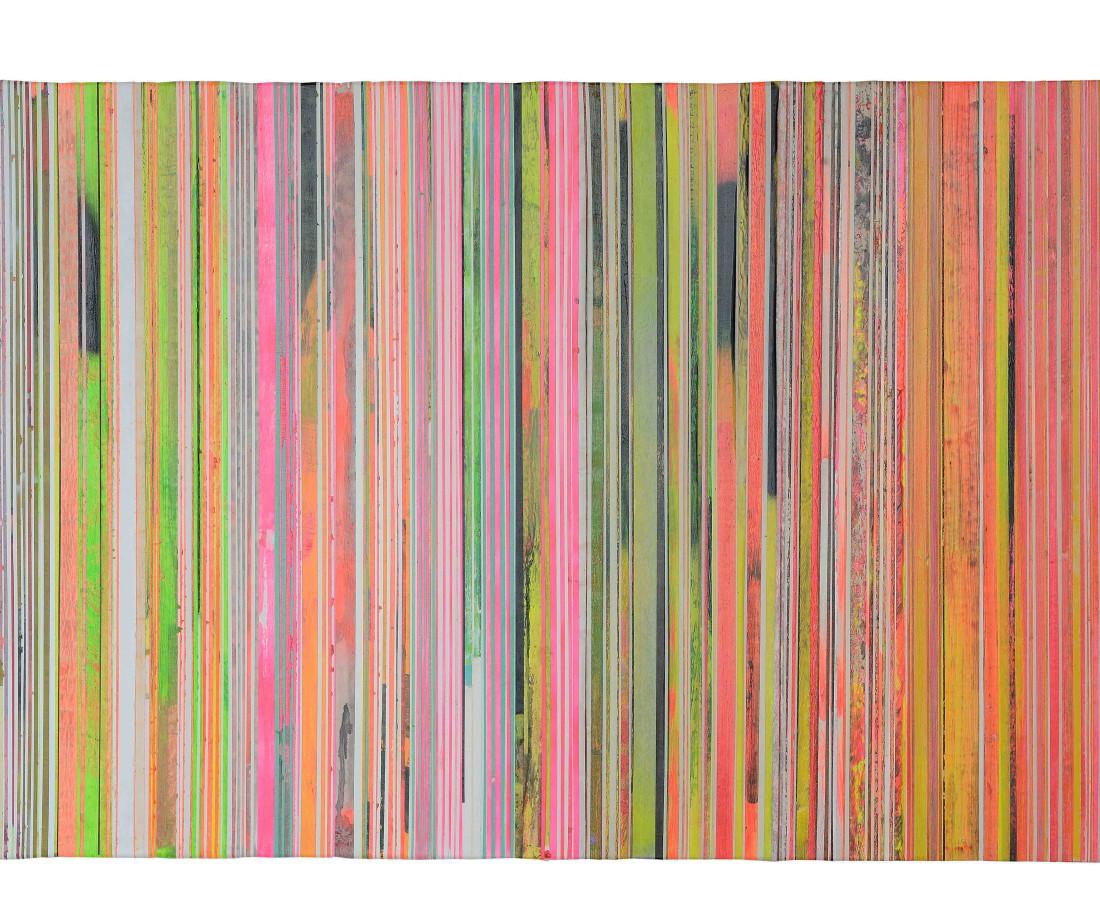 Paolo Bini: Untitiled, 2015, 100 x 150 cm, acrilico su nastro carta su tela