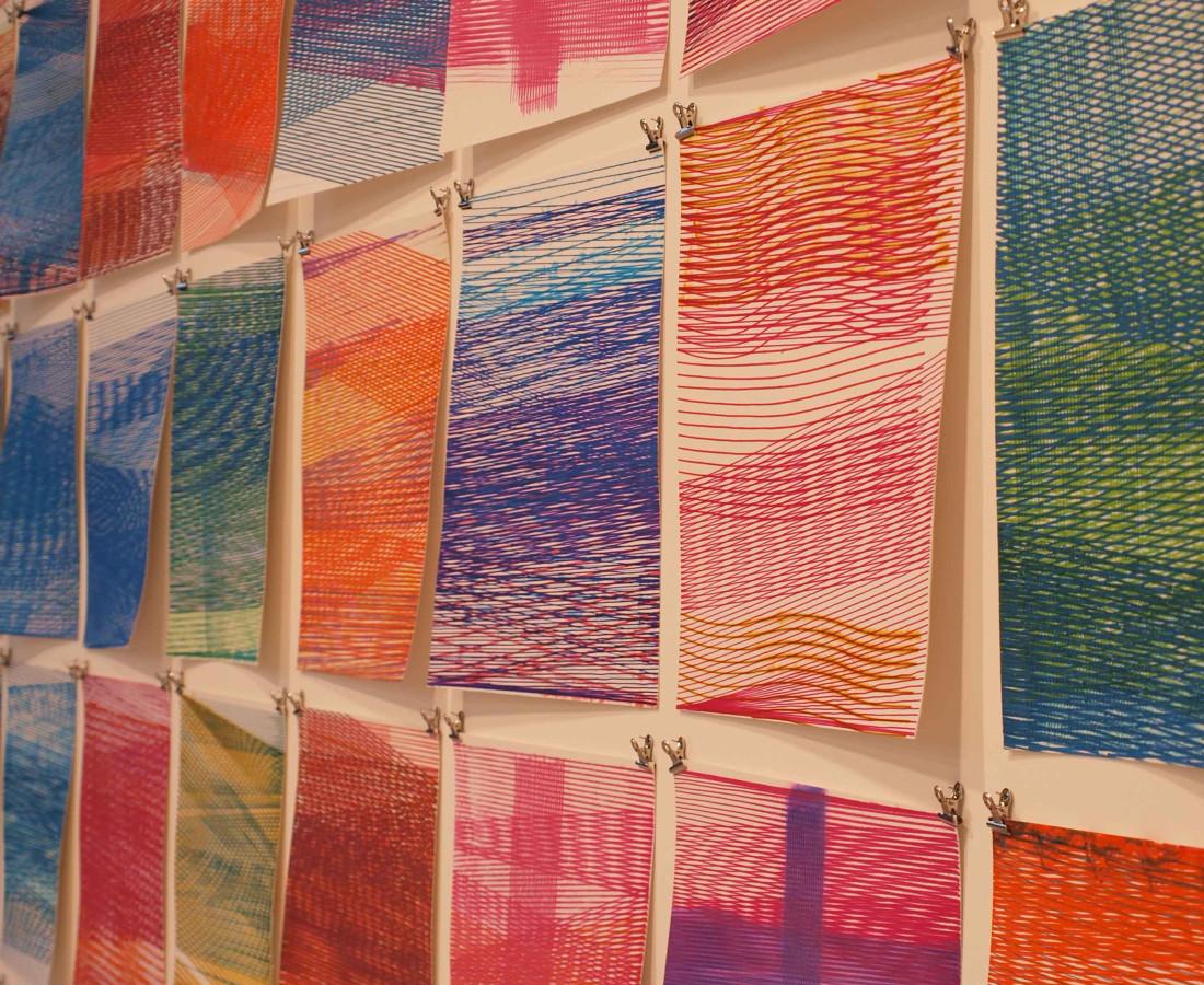 Patrick Tabarelli: Ubiquity – ABC-ARTE Contemporary art Gallery – 2015 [M], 2015, 200 x 400 cm - 78 3/4 x 157 1/2 in, particolare, acquarello liquido e acrilico su carta cotone