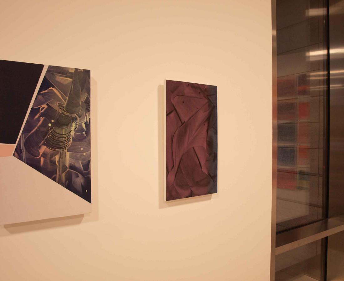 Patrick Tabarelli: Ubiquity – ABC-ARTE Contemporary art Gallery – 2015 Zero-Om, 2012, 60 x 35 cm - 23 5/8 x 13 3/4 in, olio, alchidico, gel acrilico su tela Unconnected, 2012, 60 x 35 cm - 23 5/8 x 13 3/4 in, olio e alchidico su tela