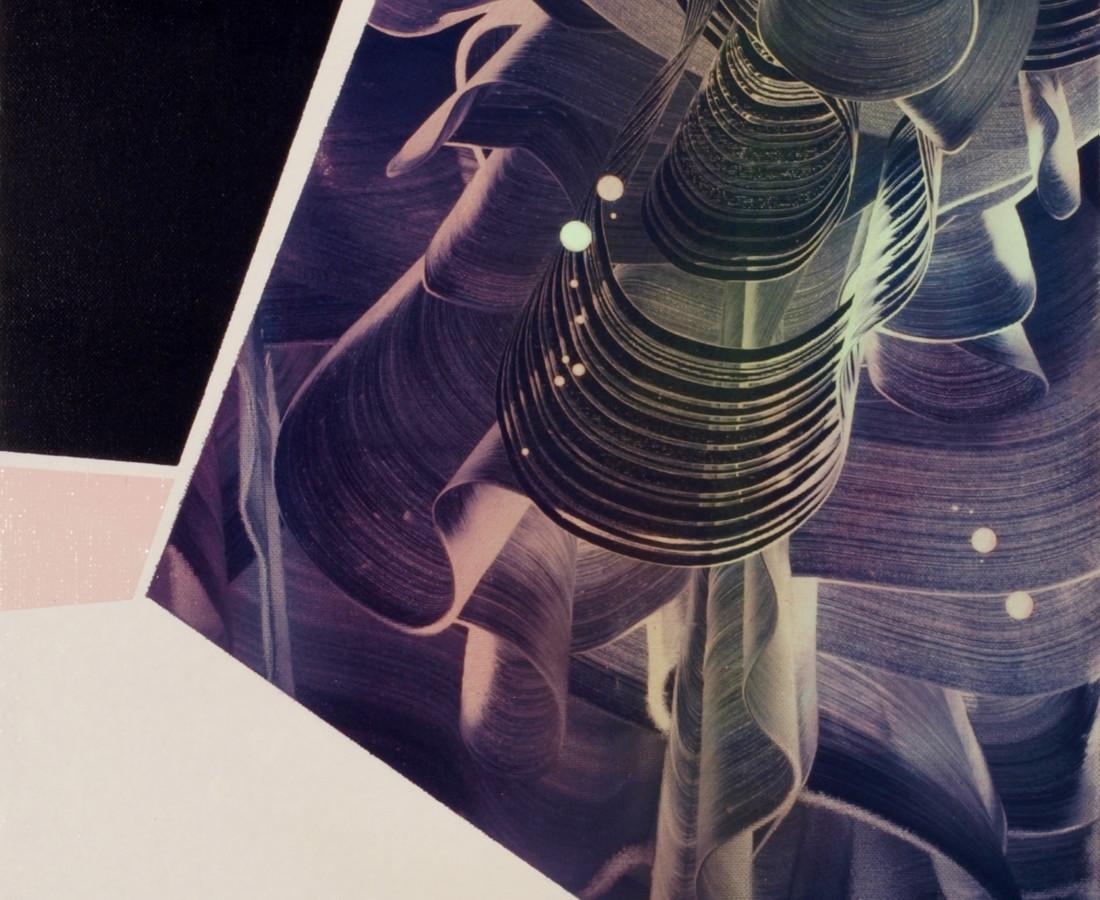 Patrick Tabarelli: Zero-Om, 2012, 60 x 35 cm olio, alchidico, gel acrilico su tela