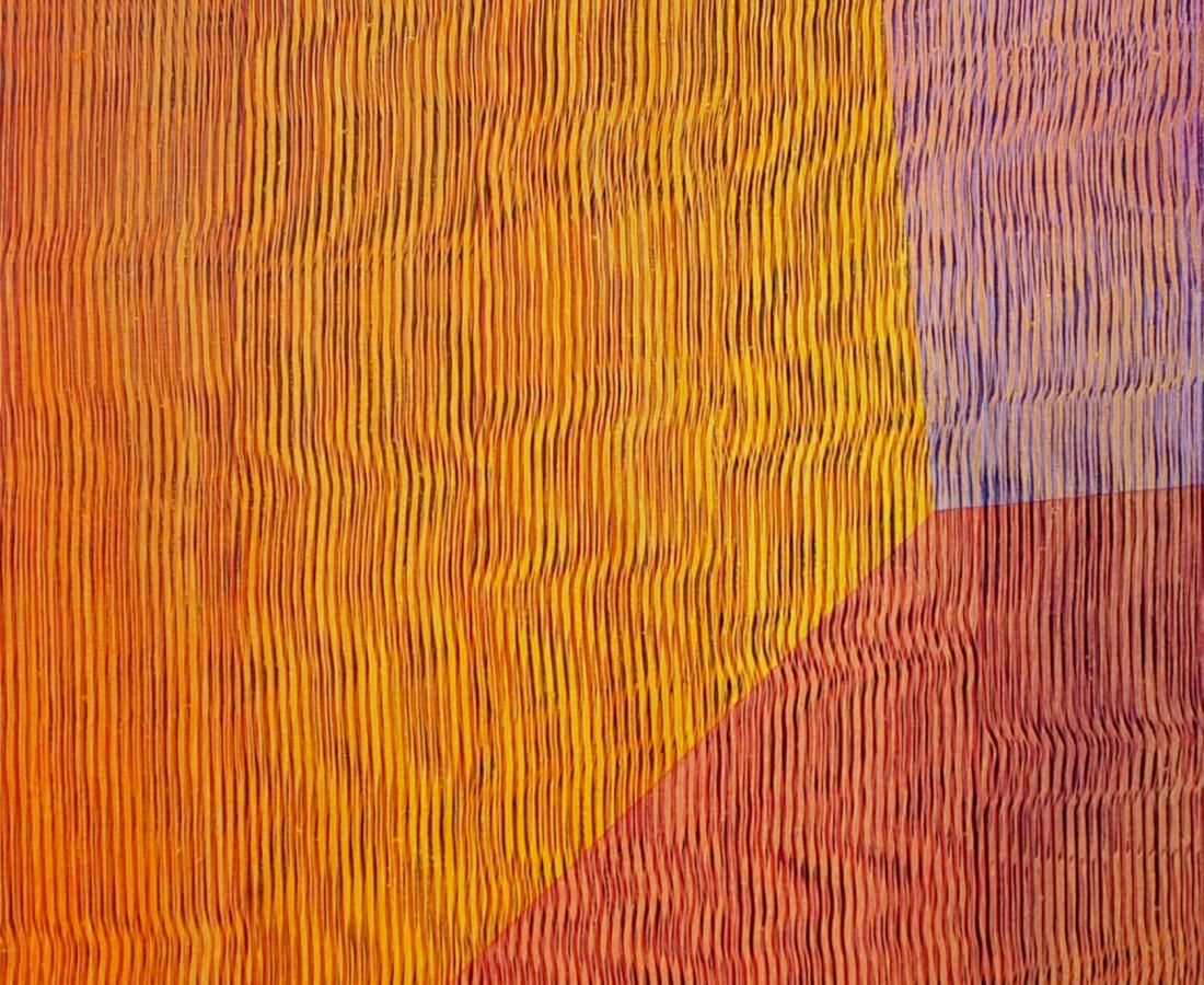 Patrick Tabarelli: Zero-Om, 2014, 60 x 35 cm, olio e alchidico su tela