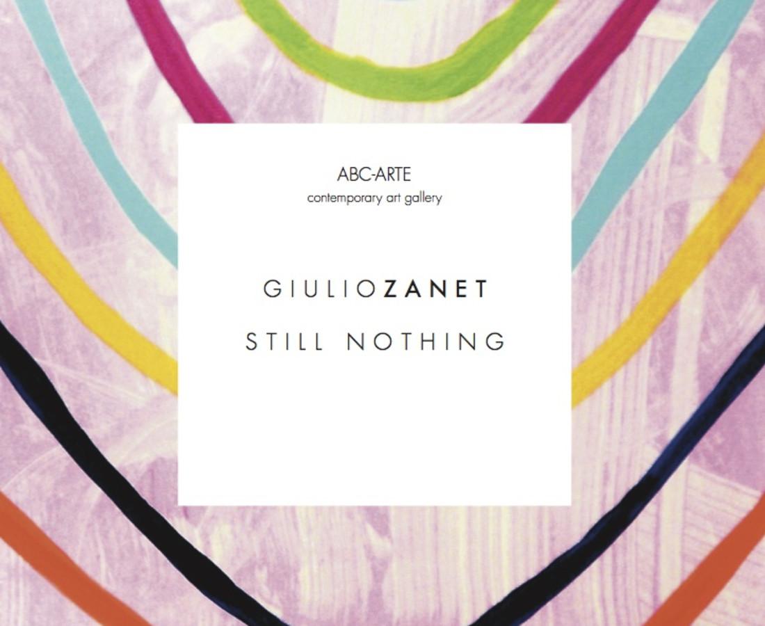 STILL NOTHING | Giulio Zanet, Copertina catalogo