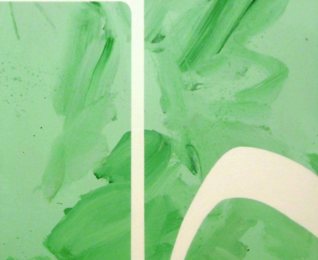 Giulio Zanet, 2014, Minimal experiments, 70x50 cm, smalto e acrilico su tela