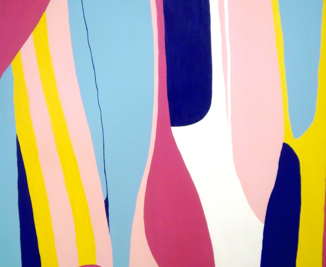 Giulio Zanet, 2015, Cadere, 130x110 cm, smalto su tela