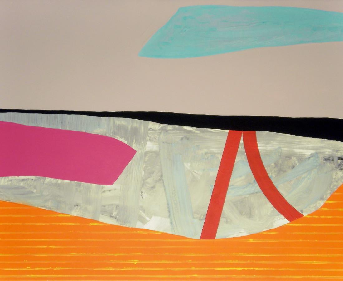 Giulio Zanet, 2015, Senza titolo, 63x90 cm, smalto e acrilico su tela
