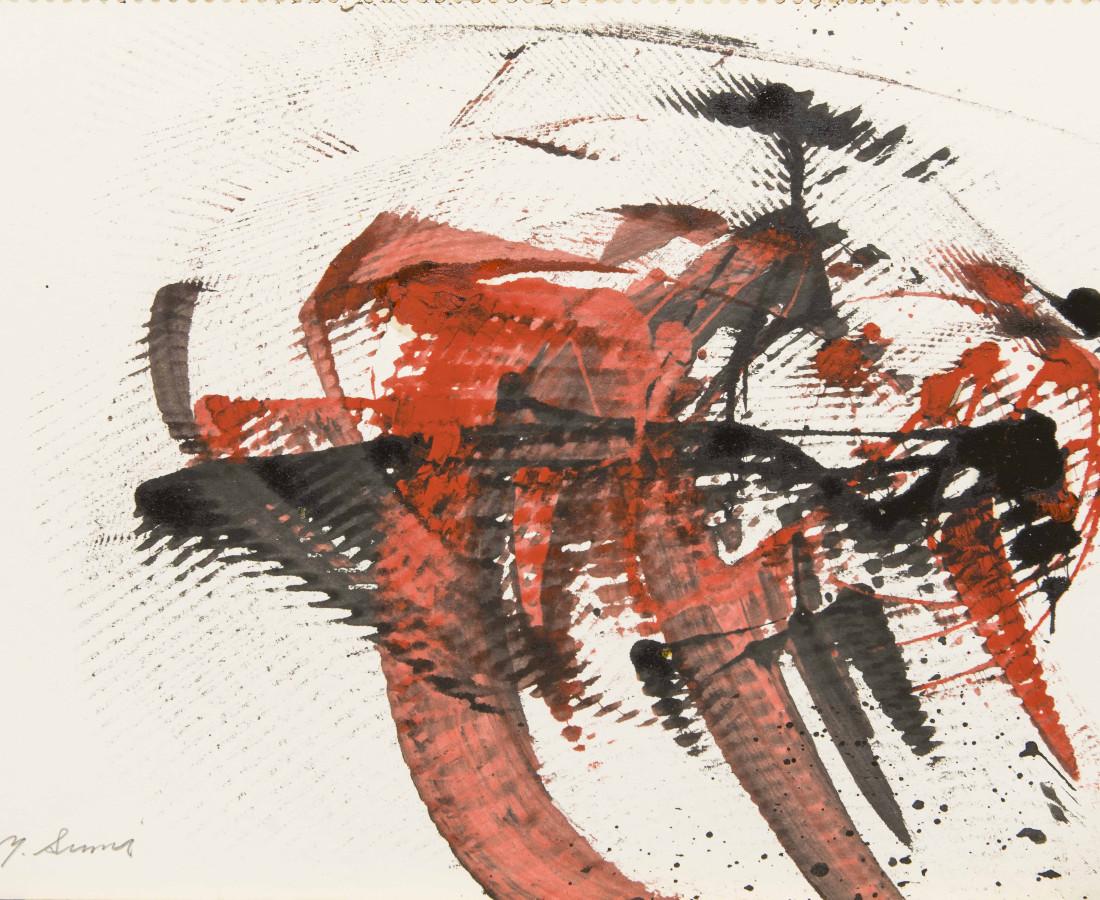 Yasuo Sumi, 1954, Senza titolo, 25x35 cm, opera su carta