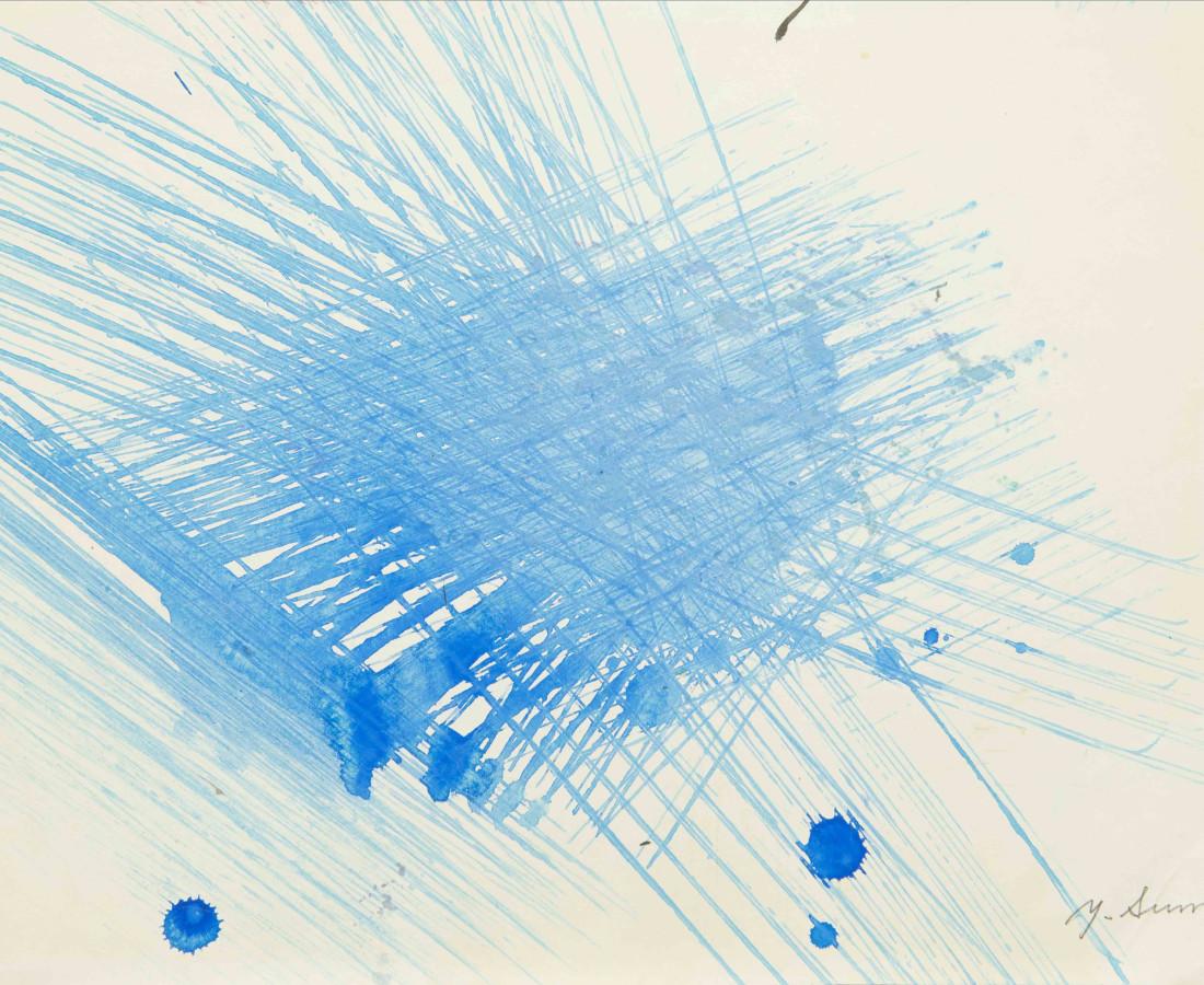 Yasuo Sumi, 1954, Senza titolo, 26x36 cm, opera su carta