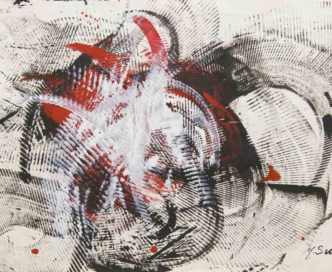 Yasuo Sumi, 1963, Senza titolo, 37x52 cm, opera su carta