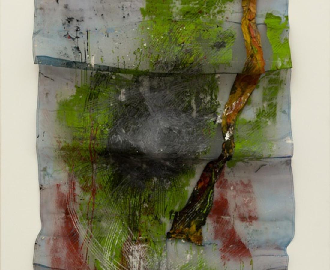 Yasuo Sumi, 1968, Untitled, 180x90 cm, tecnica mista su rete
