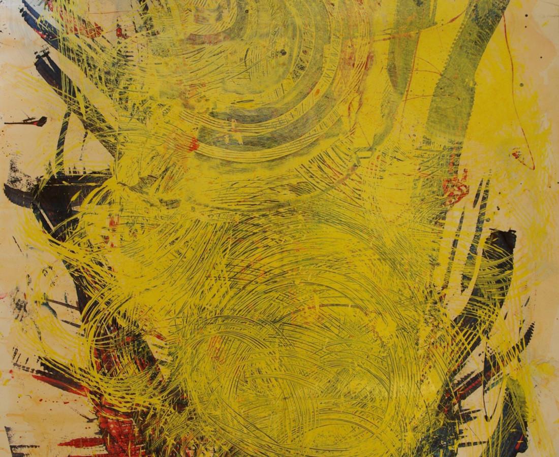 Yasuo Sumi, 1972, Work 28, 152x112 cm, tecnica mista su carta
