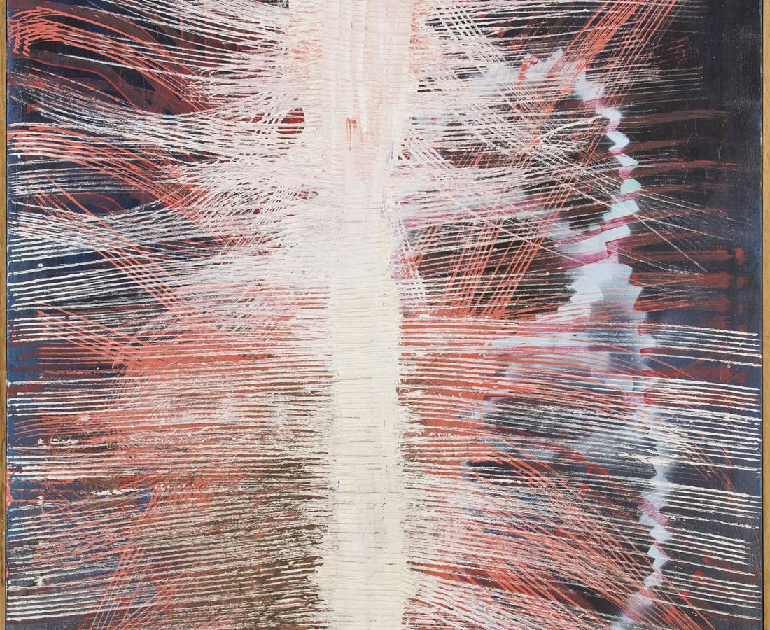 Yasuo Sumi,1978-1991, Senza titolo, 112x44 cm, tecnica mista