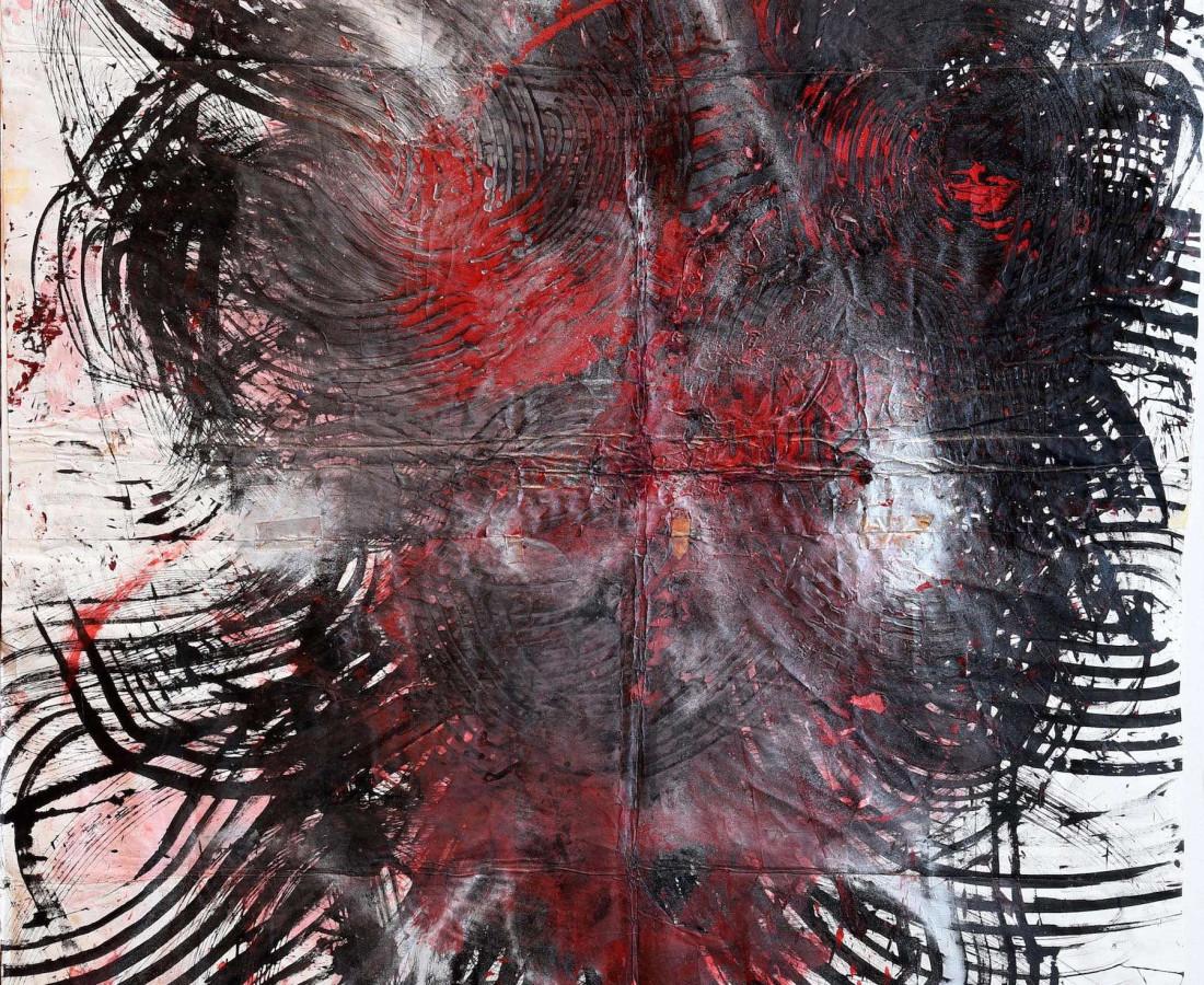 Yasuo Sumi, 1987, Senza titolo, 152x214 cm, n° archivio Sumi 30, tecnica mista su carta giapponese