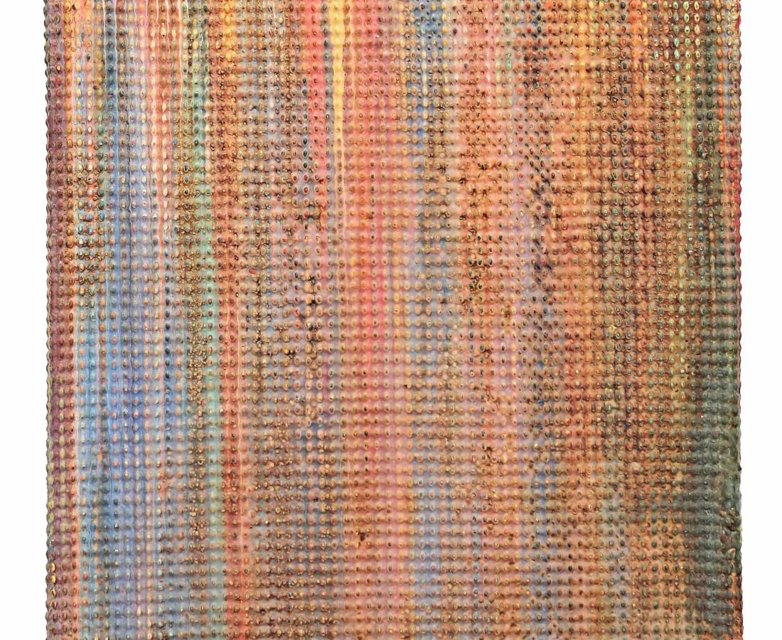 Alan Bee, Metamorphosis, 1992, 60x50x4cm, mixed media on canvas