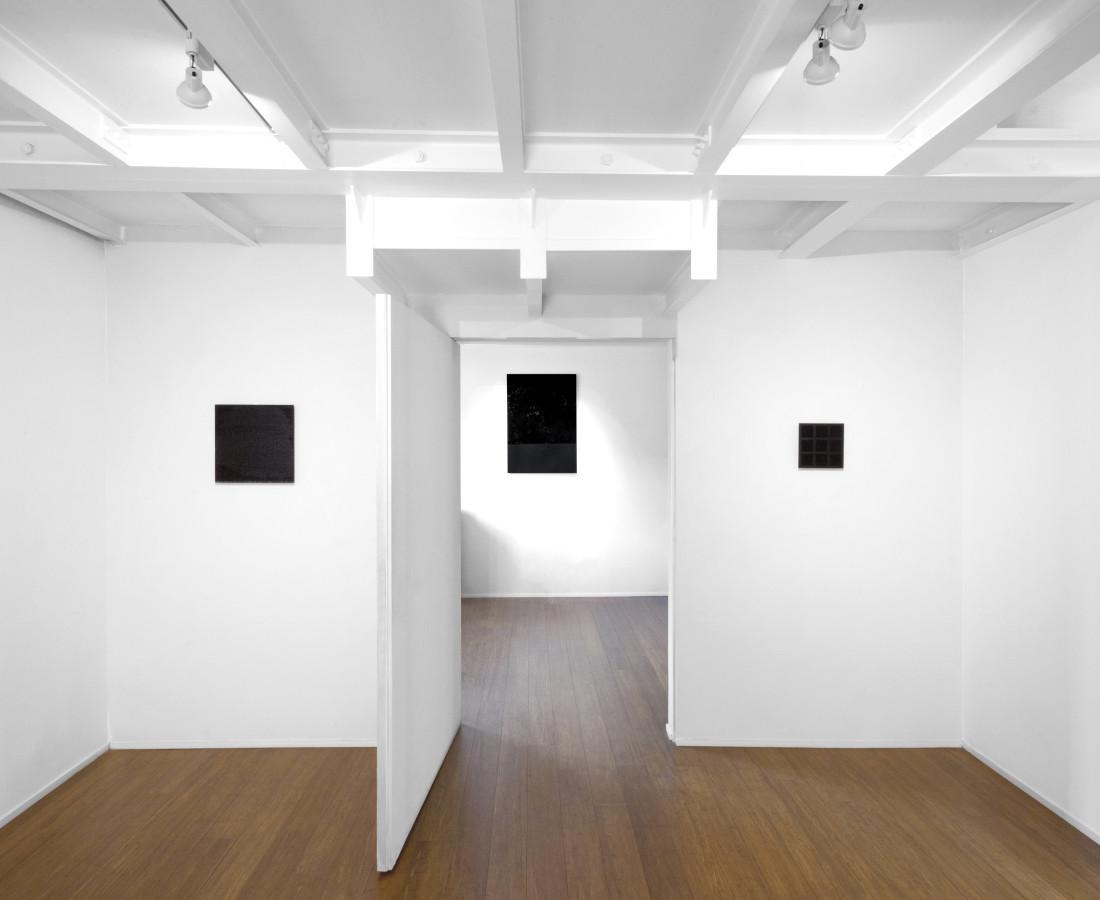 Tomas Rajlch Black Paintings 1976-79 installation view