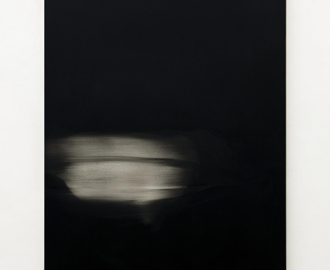 Mauro Vignando: Black painting, 2015, 100 x 80 cm, acrilico su supporto in legno