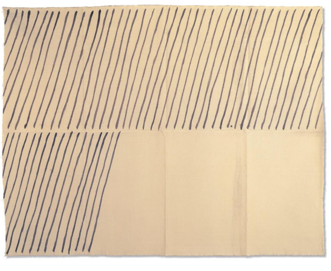 Giorgio Griffa : Obliquo, 1971, acrilico su cotone, 149x190 cm