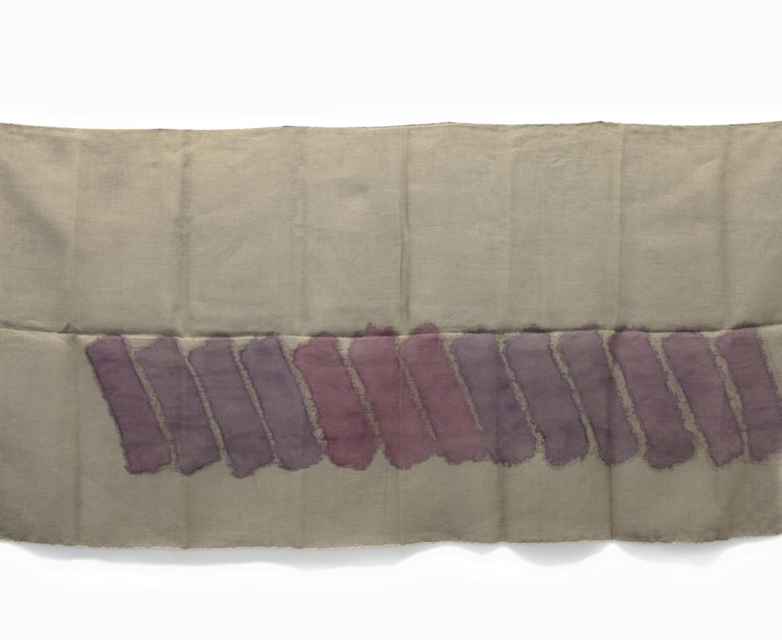 Giorgio Griffa : Linee orizzontali, 1979, 61x91 cm, 24 1_8x35 7_8 in, acrilico su juta
