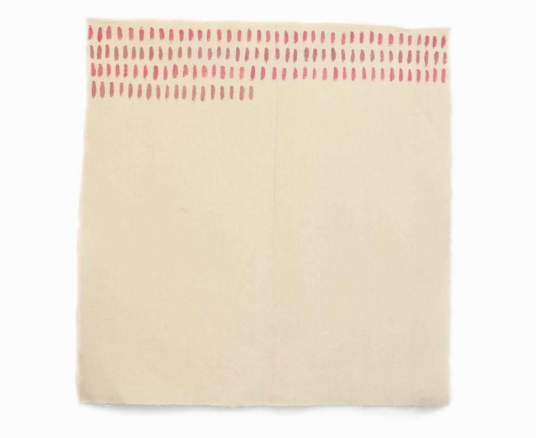 Giorgio Griffa : Orizzontale, 1975, 50x50 cm, 19 3_4 x 19 3_4 in, acrilico su cotone