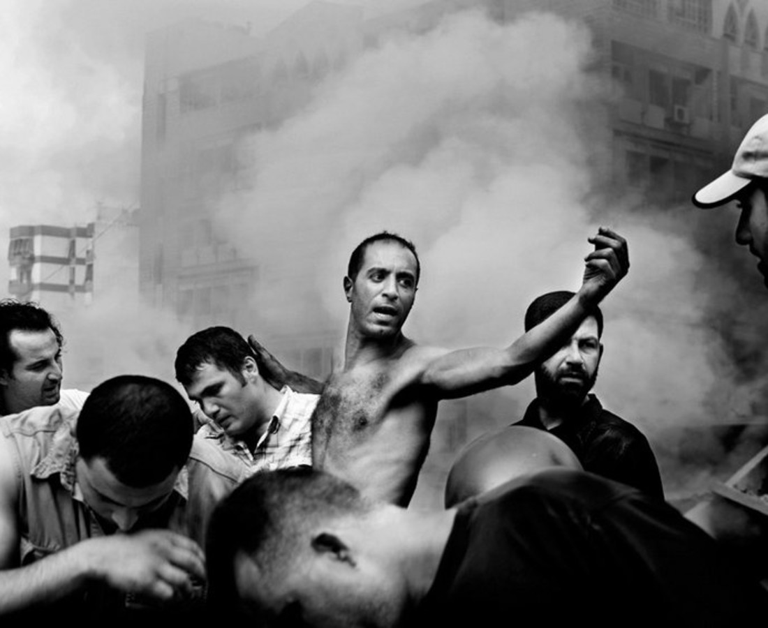 Paolo Pellegrin, Beirut: moments after an Israeli air strike destroyed several buildings in Dahia, August 2006