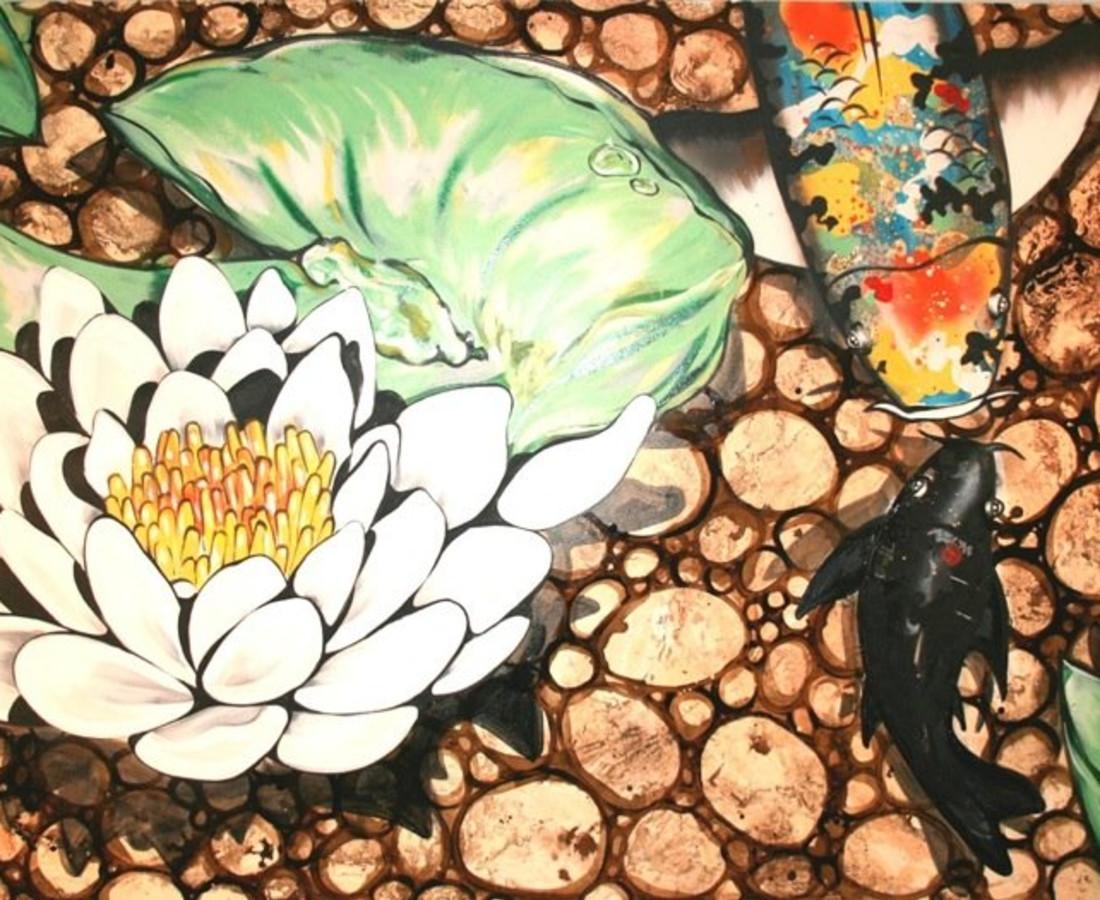 John Ha, Withe lotus koi pond, 2007