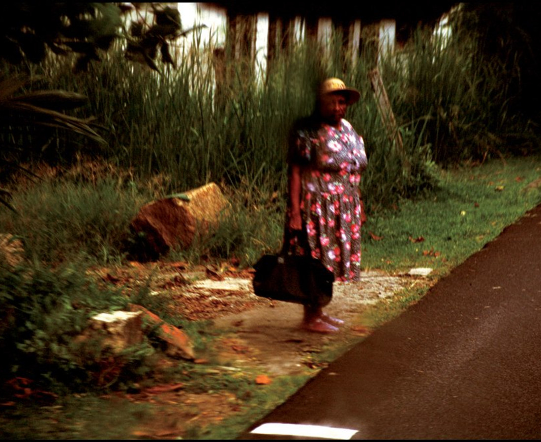 Ohad Maiman, Woman by Road (Seychelles), 2004