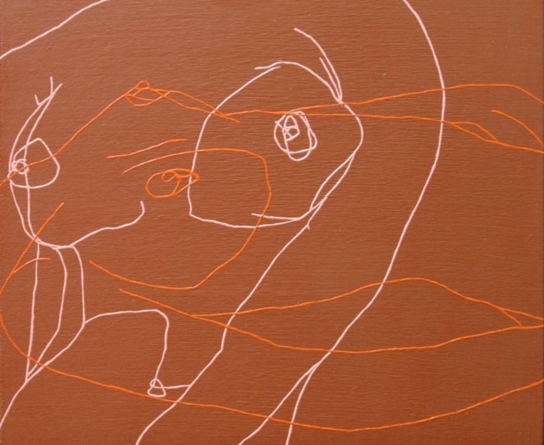 Melissa Dadourian, Sitting Girl (Sandy + Jean), 2004