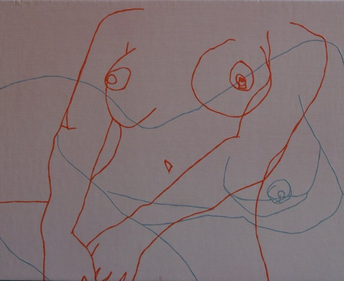 Melissa Dadourian, Sitting Girl 2 (Sandy + Carol), 2004