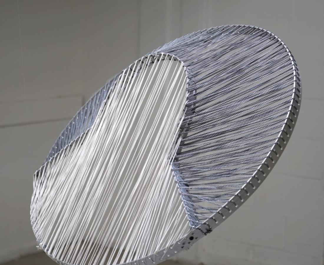 Florentine Ruault Elevation 1 Aluminium and Sabra thread 80 x 90 x 12 cm 31 1/2 x 35 3/8 x 4 3/4 in