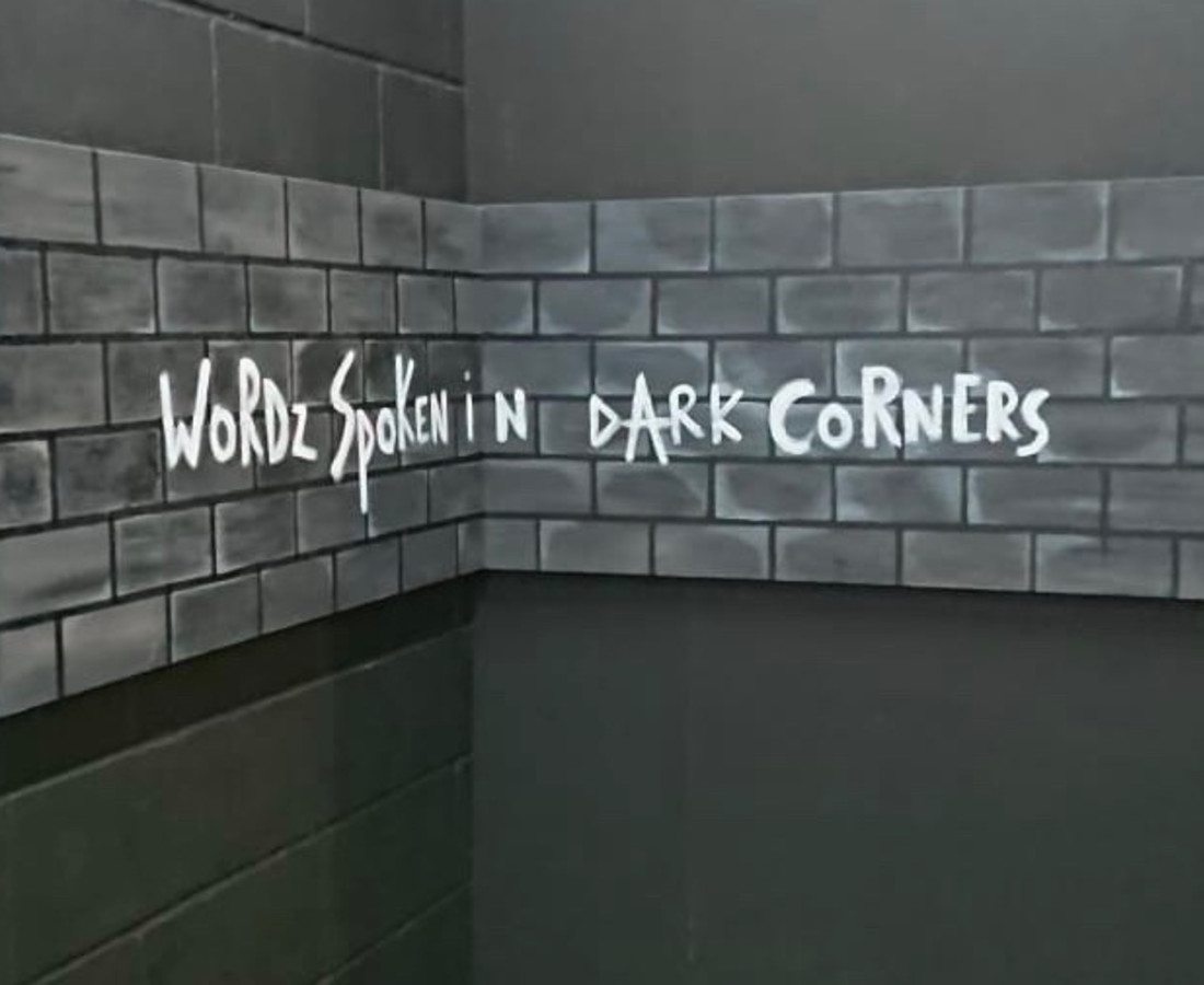 Karen Tronel Words Spoken in Dark Corners Acrylic on canvas (a pair) 122 x 61 cm 48 1/8 x 24 1/8 in (each)